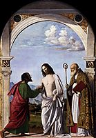 Doubting Thomas with St. Magnus, c.1505, conegliano