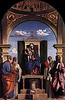Madonna and Child Enthroned with Saints, c.1496, conegliano