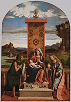 Madonna and Child with St. John the Baptist and Mary Magdalene , c.1512, conegliano