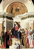 Madonna Enthroned with the Child, conegliano