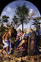 Madonna of the Orange Tree with St. Ludovic of Toulouse and St. Jerome, c.1495, conegliano