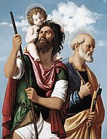 St. Christopher with the Infant Christ and St. Peter, c.1505, conegliano