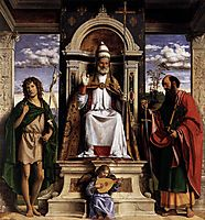 St. Peter Enthroned with Saints, conegliano
