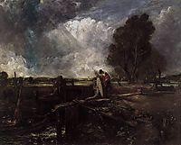 A Boat at the Sluice, constable