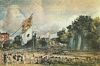 Celebration of the General Peace of 1814 in East Bergholt, 1814, constable