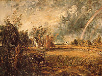 Cottage, Rainbow, Mill, c.1837, constable