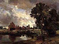 Dedham Lock and Mill, 1818, constable