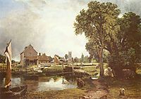 Dedham Lock and Mill, 1820, constable