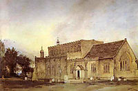 East Bergholt Church, 1811, constable
