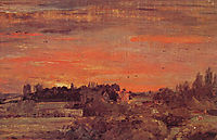 East Bergholt Rectory, 1810, constable
