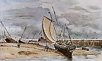 Fokstone harbour , constable