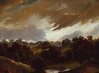 Hampstead Stormy Sky, 1814, constable