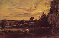 Landscape Evening, c.1812, constable