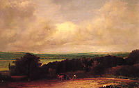 Landscape Ploughing Scene In Suffolk, 1814, constable