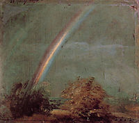 Landscape with a Double Rainbow, 1812, constable