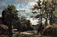 A Lane near Flatford, 1811, constable
