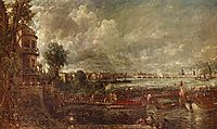 The Opening of Waterloo Bridge seen from Whitehall Stairs, c.1832, constable