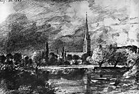 Salisbury cathedral , constable