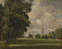 Salisbury Cathedral from Lower Marsh Close, 1820, constable