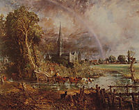 Salisbury Cathedral From the Meadows, 1831, constable