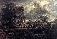 Sketch for The Leaping Horse, 1824, constable