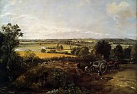 The Stour Valley with the Church of Dedham, 1814, constable