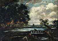 Study for The Leaping Horse (View on the Stour), constable