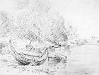View on the River Severn at Worcester, 1835, constable