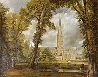 View of Salisbury Cathedral from the Bishop-s Grounds, c.1823, constable