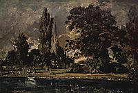 The view of Salisbury Cathedral from the river, with the house of the Archdeacon Fischer, 1820, constable