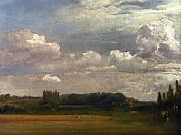 View Towards The Rectory From East Bergholt House, 1813, constable