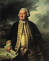 Clark Gayton, Admiral of the White, 1779, copley