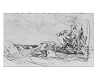 Study for The Siege of Gibraltar, 1786, copley