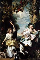 The three youngest daughters of George III, 1785, copley