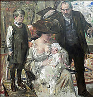 The Artist and His Family, 1909, corinth