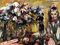 Flowers and Wilhelmine, 1920, corinth