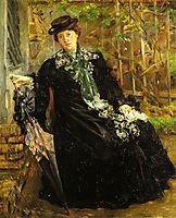 In a Black Coat, 1908, corinth