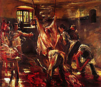 In the Slaughter House, 1893, corinth