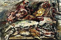 Meat and Fish at Hiller-s Berlin, 1923, corinth