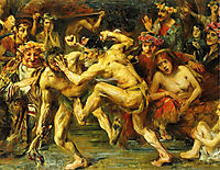 Odysseus Fighting with the Beggar, 1903, corinth