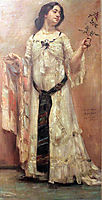 Portrait of Charlotte Berend in white dress, 1902, corinth