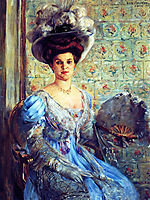 Portrait of Eleonore von Wilke, Countess Finkh, 1907, corinth
