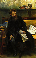 Portrait of the Poet Peter Hille, 1902, corinth