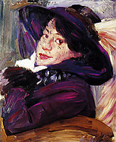 Portrait of a Woman in a Purple Hat, 1912, corinth