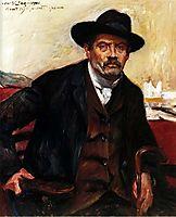 Self-Portrait in a Black Hat, 1911, corinth