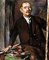 Self-Portrait at the Easel, 1919, corinth