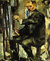 Self-Portrait at the Easel, 1922, corinth