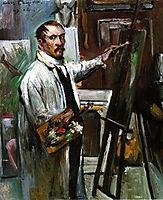 Self-Portrait in the Studio, 1914, corinth