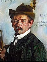 Self-Portrait in a Tyrolean Hat, 1913, corinth