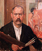 Self-portrait without a collar, 1900, corinth